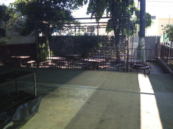 A view of where students can eat at Escuela Josefa Ortiz De Domingue in Culican, Sinaloa, Meixco